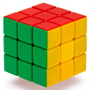 Brybelly 3x3x3 Stickerless 6-Color Speed Puzzle Cube