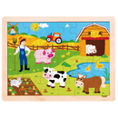 Brybelly Busy Barnyard Inset Jigsaw Puzzle