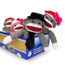 Brybelly The Sock Monkey Family in Car Box