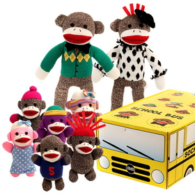Brybelly The Sock Monkey Family School Bus
