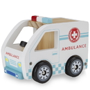 Brybelly Wooden Wheels Natural Beech Wood Ambulance