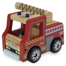 Brybelly Wooden Wheels Natural Beech Wood Fire Engine