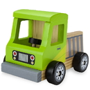Brybelly Wooden Wheels Natural Beech Wood Pickup Truck