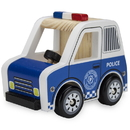 Brybelly Wooden Wheels Natural Beech Wood Police Cruiser