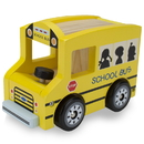 Brybelly Wooden Wheels Natural Beech Wood School Bus