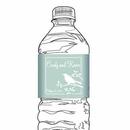 Bird Silhouette Water Bottle Label, Red