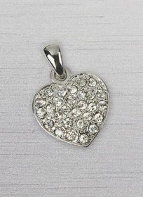 Pave Heart Charm (minimum 6 pieces)