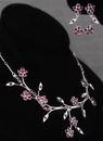 Ivy Lane Design Crystal Flower Vines Necklace and Earrings Set