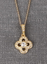 Ivy Lane Design Crystal Clover Necklace Pendant