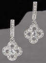 Ivy Lane Design Crystal Clover Earrings