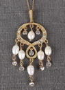 Ivy Lane Design Rhinestone & Pearl Chandelier Pendant Necklace