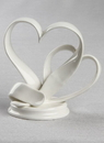 Ivy Lane Design Porcelain Double Hearts Cake Top