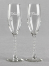 Ivy Lane Design Bride and Groom Toasting Glass Set