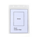 Officeship Vertical Clear ID Holders, ID Holder 50Pcs