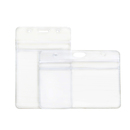 Officeship Frosting Finish Business Card Holder, Clear and Sealable ID Sleeve, 50Pcs