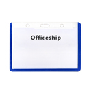 Officeship Hard Color Frame Badge Holder, Horizontal, ID Cover 50Pcs
