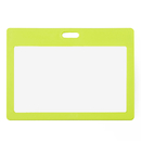 Officeship Colored Frame Horizontal Badge Holder, Frosted Surface, 3-1/2