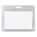 Officeship Flipped Horizontal Badge Case with Frosted Color Border, 3-3/8