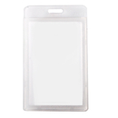 Officeship Flipped Vertical Badge Case with Frosted Color Border, 2-1/8