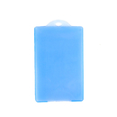Officeship Semitransparent Hard Plastic Badge Holder, Vertical, 2-1/8