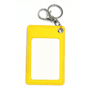 Officeship PU Leather Multi-card Badge Case with Key Ring, 2-1/8