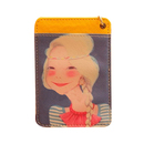 Officeship Painted Girl Badge Holder with Lanyard, Bus Card, Student IC Card, 4-3/8