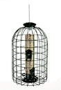 Audubon/Woodlink Squirrel Resistant Caged Tube Feeder - Clear/Green - 1.25 Pound Cap