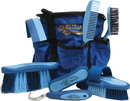 Desert Equestrian Equestria Sport Series Boxed Grooming Set - Blue - 8 Piece