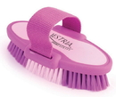 Desert Equestrian Equestria Sport Oval Body Brush - Purple - Small/6.75 Inch