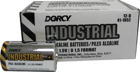 Dorcy Industrial Alkaline Batteries / D/12 Pack - 41-1852