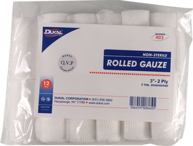Dukal Ns Rolled Gauze White / 3 Inch - 403