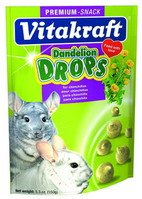 Vitakraft Pet Dandelion Drops For Chinchilla / 5 Ounce - 25235