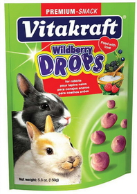 Vitakraft Pet Wild Berry Drops For Rabbit Wild Berry / 5 Ounce - 25443