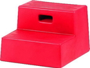 Horsemen S Pride 2 Step Mounting Block - Red - 15 X 18 1/2 In