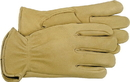 Boss Premium Grain Deerskin Leather Driver Glove - Tan - Extra Large