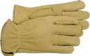 Boss Premium Grain Deerskin Leather Driver Glove - Tan - Small