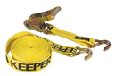 Keeper Ratchet Tie Down With Double-J Hook - Yellow - 27 Foot