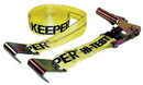 Keeper Ratchet Tie Down With Flat Hook - Yellow - 27 Foot