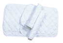 Imported Horse &Supply Quilted Leg Wrap For Horses - White - Assorted/4 Pack