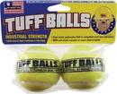 Petsport Tuff Balls - Yellow - 2.5 Inch/2 Pack