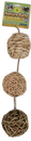 Ware Nature Balls With Bells For Small Animals - Natural - 3.5 Inch/3 Pack