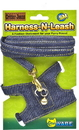Ware Critter Jeans Small Aniaml Harness-N-Leash - Blue - Small