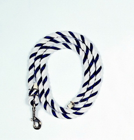 Beiler S Lead Rope With Snap Blue/White / 9 1/2 Feet - 700