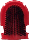 Partrade  Scrub & Wash Glooming Mitt For Horses - Red - 7 Inch