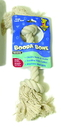 Booda Booda Bone 2 Knot Rope Bone Dog Toy - White - Medium
