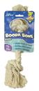 Booda Booda Bone 2 Knot Rope Bone Dog Toy - White - Small