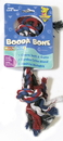 Booda Booda Bone 2 Knot Rope Bone Dog Toy - Multi Colored - Small