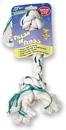Booda Fresh-N-Floss 2-Knot Rope Bone Dog Toy - Spearmint - Medium
