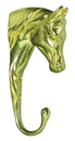 Imported Horse &Supply 3-D Horse Shaped Hanger - Brass - 5 Inch