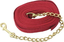 Imported Horse &Supply Lunge Line With Chain - Red - 20 Feet